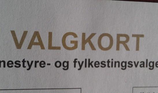 Bilde av valgkort